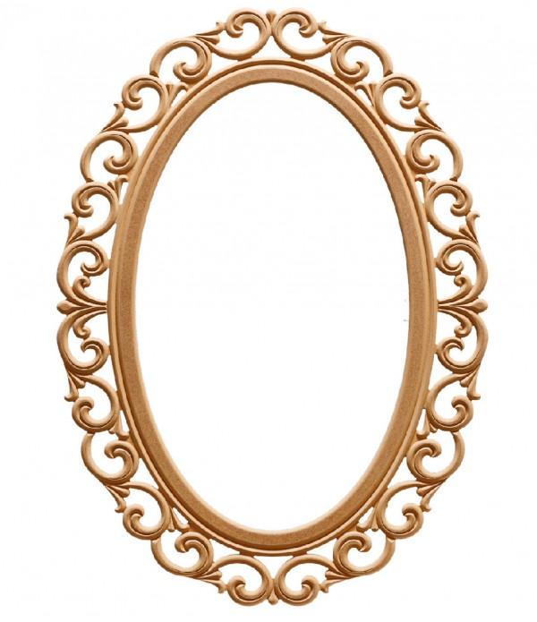 100'Lük Lilyum Oval Ayna