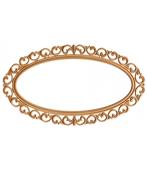 140'Lik Lilyum Oval Ayna