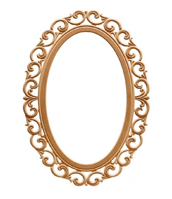 110'Luk Lilyum Oval Ayna