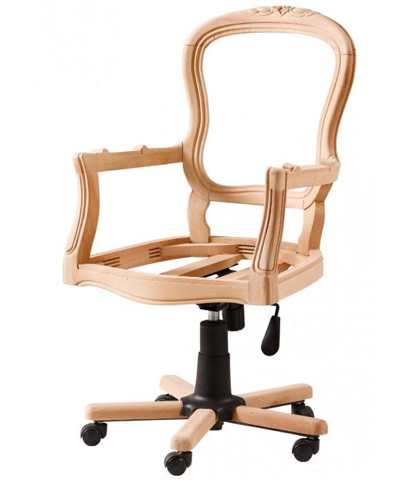 Hasırlı Oymalı Dönerli Sandalye