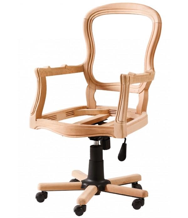 Hasırlı Klasik Dönerli Sandalye