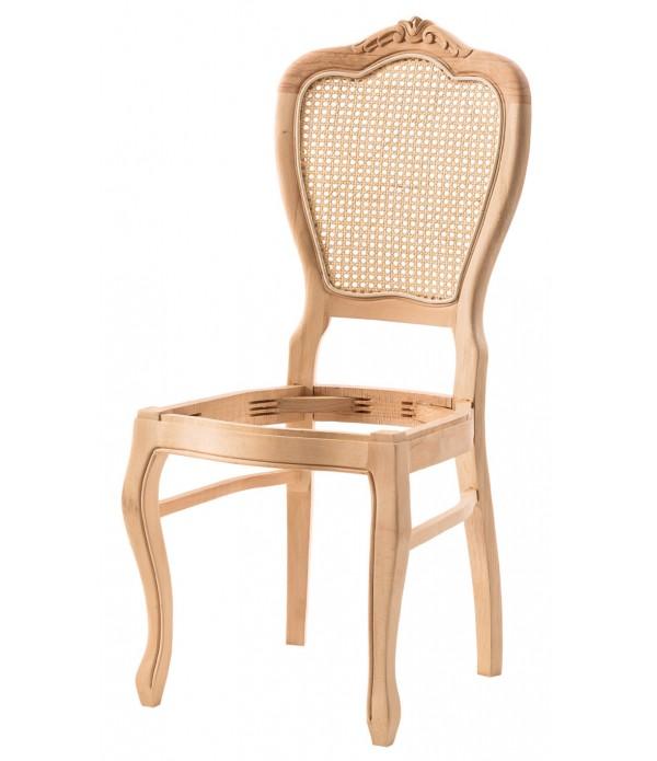 Klasik Oymalı Kollu Sandalye