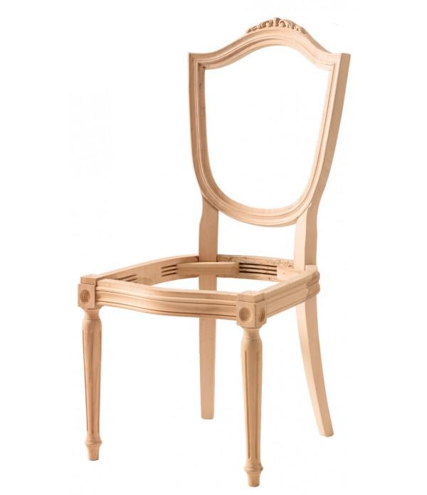 Hasırlı Kupa Tornalı Oymalı Sandalye