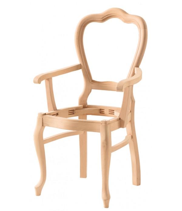 Hasırlı Klasik Lükens Kollu Sandalye