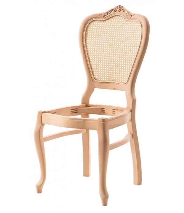 Klasik Lükens Oymalı Kollu Sandalye