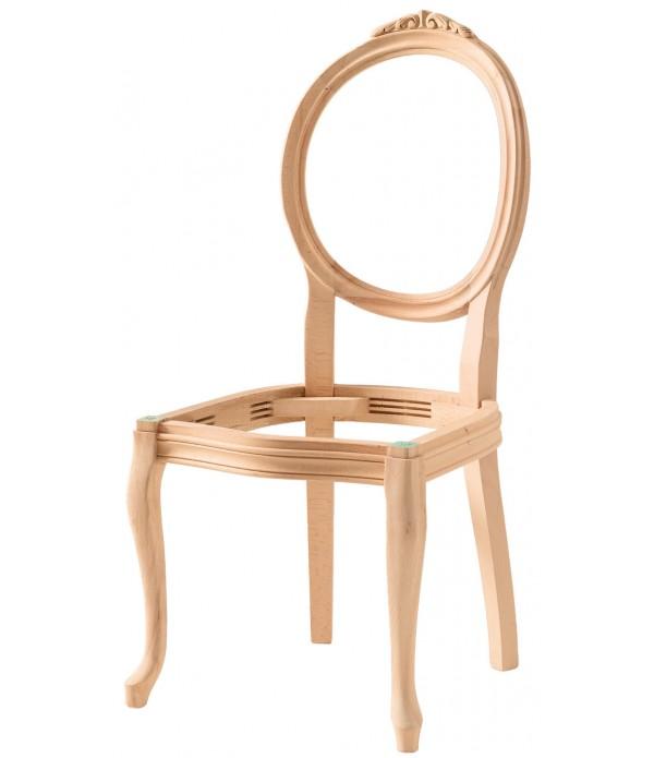 Hasırlı Madalyon Oymalı Sandalye