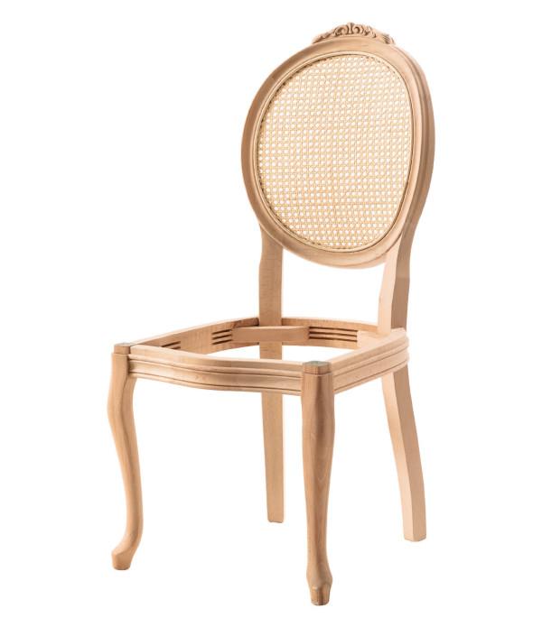 Madalyon Oymalı Kollu Sandalye