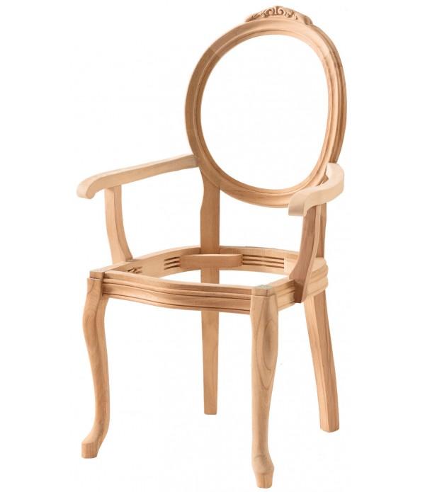 Hasırlı Madalyon Oymalı Kollu Sandaly...