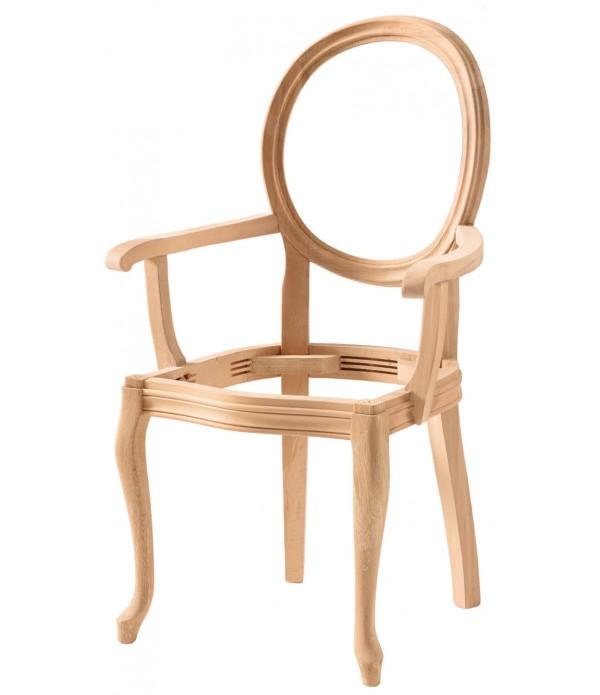 Hasırlı Madalyon Kollu Sandalye