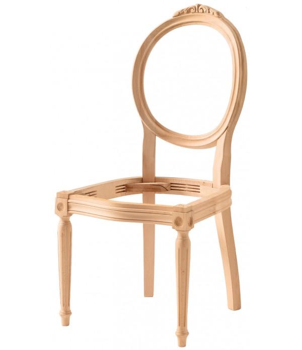 Hasırlı Tornalı Oymalı Sandalye
