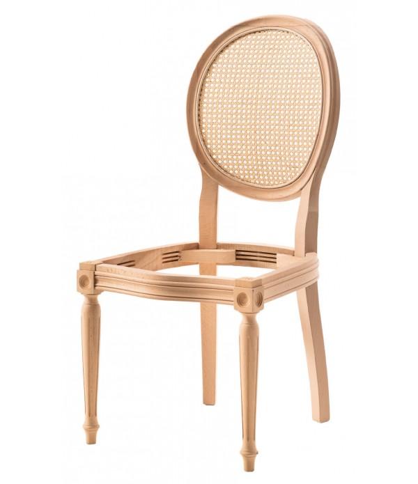 Hasırlı Tornalı Sandalye
