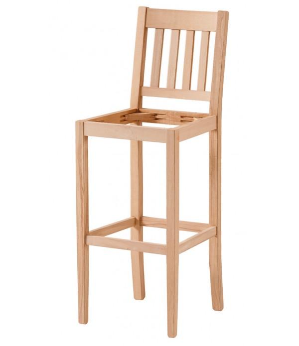 4 Çıtalı Döşemeli Bar Sandalye